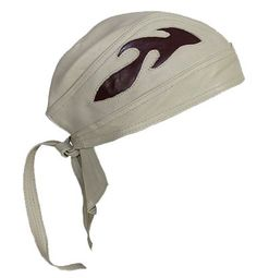 260b92d415ff4 Beige Leather Skull Cap with Brown Flames - SKU USA-AC7-BEIGE-DL