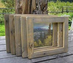 wood picture frame | Reclaimed Barnwood Frames Etsy Find | Apartment Therapy