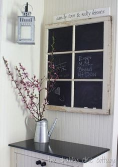 great site for ideas to use old windows for decor