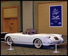 Come see the World's Oldest Corvette, the 1953 Motorama Prototype Corvette at the Kerbeck Corvette showroom in Atlantic City, NJ Old Corvette, Chevrolet Corvette, Chevy, Corvette History, American Sports, Cabriolet, S Car, Car Photos, Concept Cars