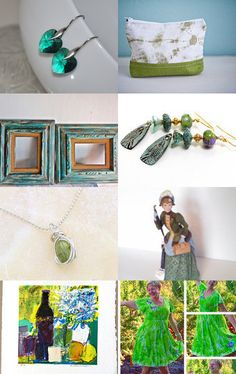 Spring greens by Beth White on Etsy--Pinned with TreasuryPin.com