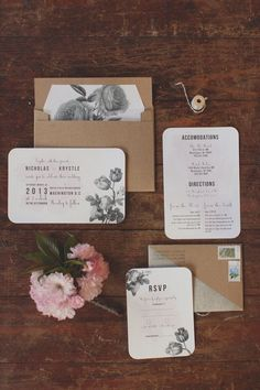 modern unique wedding invitations, watercolor, botanical and bright wedding invites, green leaves, earthy, pink florals, botanical prints, romantic, rustic