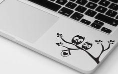 Owl macbook decal pro air sticker owls tree decal transfer