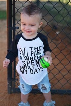 At the ballpark raglan