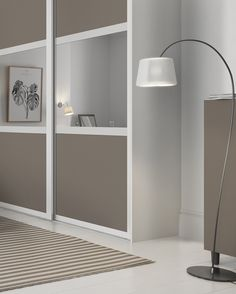 Classic 3 panel fineline sliding wardrobe doors in Grey Mirror and