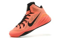 Bright Mango and Black Colorway Mens Lunar Hyperdunk 2014 Nike Brand Athletic Trainers
