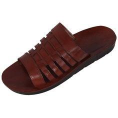 Arabia Handmade Leather Men's Sandals (Brown), Clothing | Judaica Web ...