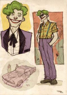 Rockabilly Joker     Found on the Uniblog, drawn by Dennis Medri