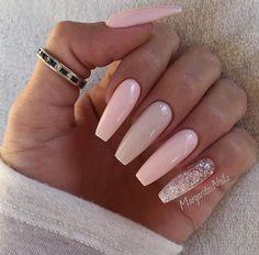 LONG ACRYLIC'S #pink #glitter