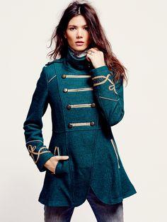 Free People // Military Wool Coat