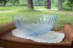Serving Bowl Mid Century Blue Glass Swirls by AntiquesandVaria, $42.80 Our etsy shops: http://www.etsy.com/shop/artdesignsbydanielle  http://www.etsy.com/shop/IndustrialPlanet http://www.etsy.com/shop/AntiquesandVaria http://www.etsy.com/shop/ArtEphemeraButtons http://www.etsy.com/shop/TheraputicEssentials http://www.etsy.com/shop/AncientHillsWood