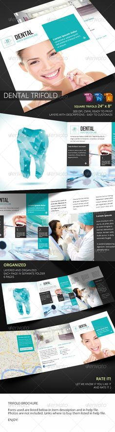 Dental Square Trifold  #graphicriver