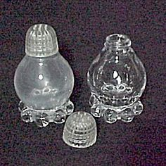 Imperial Glass Candlewick Salt & Pepper Shakers Vintage