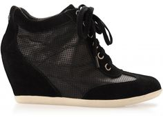 Sara Leather Sneaker Wedge
