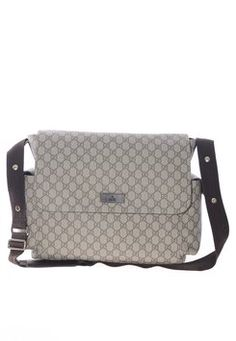 Gucci Canvas Crossbody Messenger Brown and Beige Diaper Bag