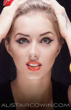 Model's studio  portfolio shoot - makeup by Lian Young