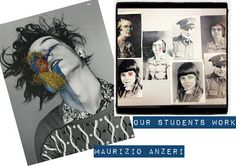 Maurizio Anzeri inspired embroidery: Lesson idea for some photo embroidery with an artist link, mark making activity and student examples