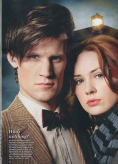 Amelia and her raggedy Doctor. <3<3 what a great photo of Matt and Karen.