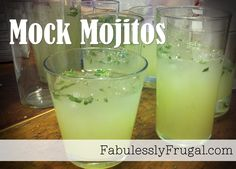 This non-alcoholic drink is the perfect refreshing summer beverage! http://fabulesslyfrugal.com/2012/06/mock-mojitos.html