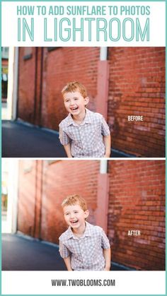 How to add sunflare to photos in Lightroom | Two Blooms Lightroom Presets for Portraits