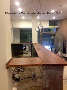 EBANISTERIA CARPINTERIA MANUEL PEREZ ( Zaragoza ): Barra de bar en madera maciza barniz ignífugo ( Zaragoza )