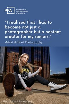 """Some in the high school senior portrait niche might call her crazy, but Nicki Hufford made a bold move last year and dropped her model program. Long heralded as the tried-and-true bastion of a thriving senior business, these programs have granted brands coveted access to high school hallways through the lips and Instagram accounts of small armies of free marketers. But a couple of years ago, Hufford sensed change on the wind in what she calls her """"big small town"""" of Warren, Ohio. Senior Portrait Photography, Senior Portraits, Warren Ohio, School Hallways, Word Of Mouth, Creating A Business, Armies, Social Media Influencer, High School Seniors"""