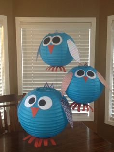 Owl lanterns for owl and chevron themed classroom.