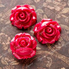12x-15x15mm-Cameo-Resin-Purple-Red-Flower-Cabochon-Wholesale-fit-charm-RB0747-2