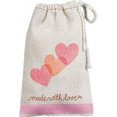 DIY Made With Love Valentine Treat Bag - add your own flair with stamps and washi tape