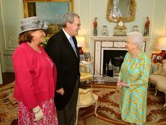 Queen Elizabeth II receives Australia's new High Commissioner to the United Kingdom Alexander Downer and his wife Nicola during a private audience at Buckingham Palace on June 26, 2014 in London, England.