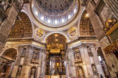 St Peter's Basilica inside - Rome