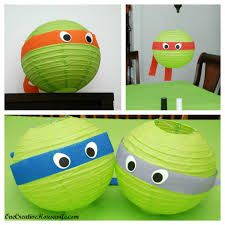 ninja turtles crafts - how much are these paper lanterns?  pretty sure you can get a pack of several for cheap - could decorate like real turtles or other animal like a bee or something - something functional campers can actually use later
