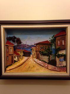 Sokak evi 3d Wall, Painting, Art, Roof Tiles, Facades, Pintura, Art Background, Painting Art, Kunst