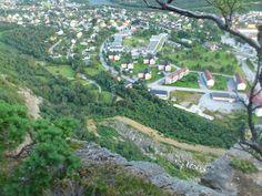 Looking down on Sunndalsøra from Ellefstolen, Møre og Romsdal