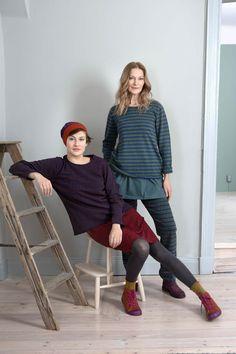 Gudrun Sjödéns Herbstkollektion 2014 - Dies ist ein Lieblings-Shirt aus Lammwolle mit Streifen in vielen herrlichen Farben, warm und schlicht für den Herbst 2014.