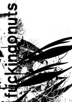 fuckingonuts /digital graphic/ print 100x70cm