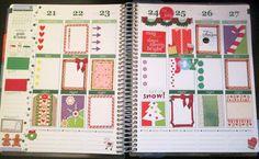 Printable Christmas Sticker Kit for Erin Condren Life Planner, candy cane frame, gingerbread frame, checklist, xmas planner stickers,