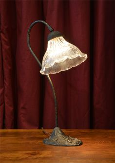 Table Lamp Art Nouveau Tulip Glass Shade