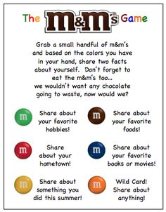 M&M Ice Breaker for Small Groups.#communityengagement https://www.linkedin.com/grp/post/43838-6039033086413455362 Join a LinkedIn discussion on ice breakers