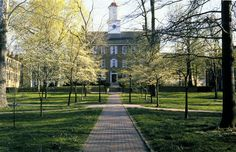College Green, Ohio University.   A spectacular campus setting in southeast Ohio.