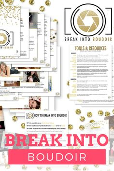 -My How to Break Into Boudoir Ebook -Boudoir Business card PS Template -Boudoir Marketing postcard PS Template -Large Boudoir Promo Card PS Template (all templates are customizable for your studio with adobe photoshop!)  -My secret tools and resources guide (never wonder which tools are best, ever again!)  -Top 10 Selling Boudoir Poses Ebook -Molly's Boudoir Packages Price List