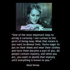 Movie Actor Quote - Meryl Streep - Film Actor Quote #merylstreep reidrosefelt.com