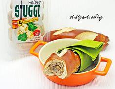 Schwäbischer STUGGI Hotdog im Laugengebäck created by Stuttgartcooking.de  #Metzgerei Bless