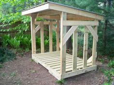 This new shed design offers large-capacity along with the expected high-endurance, high-quality materials of all Glenn's Sheds designs. Firewood Shed, Firewood Storage, Shed Storage, Goose House, Backyard Sheds, Potting Sheds, Garden Architecture, Shed Design, Shed Plans