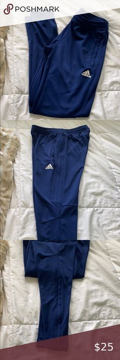 adidas Women/'s Performance Basics Pants Royal Blue//White S