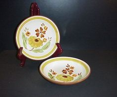 Stangl First Love Soup Bowl Set 2 Hand Painted #Stangl