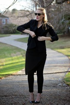 all black everything outfit for fall