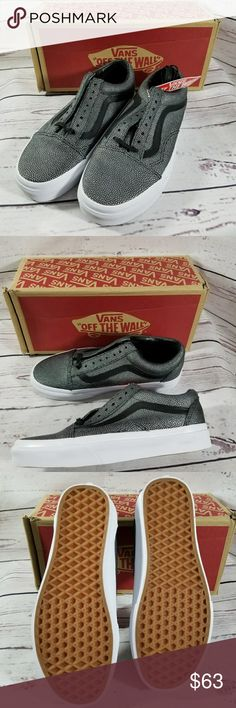 NEW EMBOSSED Stingray Vans Mens 6.5 Womens 8 Brand New in Box Vans Embossed Stingrays Old Skool style Womens Size 8 Mens Size 6.5 Vans Shoes Sneakers