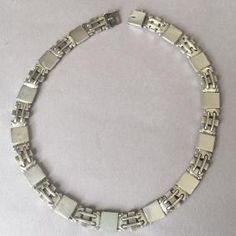 Lot: Georg Jensen Sterling Silver Art Deco Necklace, Lot Number: 0041, Starting Bid: $1, Auctioneer: Jasper52, Auction: American & European Silver, Date: March 19th, 2017 CDT