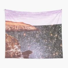 """""""Ocean Vintage Sparkly Aesthetic"""" Tapestry by ind3finite   Redbubble Tapestry Bedroom, Tapestry Wall Hanging, Thing 1, Beach Aesthetic, Tapestry Design, Textile Prints, Aesthetic Pictures, Top Artists, Sell Your Art"""